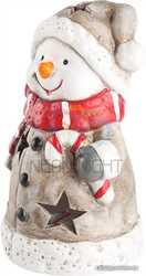 Керамическая фигурка Снеговичок в шарфе 7, 5-6, 5-12 см
